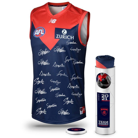 2017 AFL Official Melbourne  Team Print Framed Hogan Jones Lewis Gawn Viney - 3089