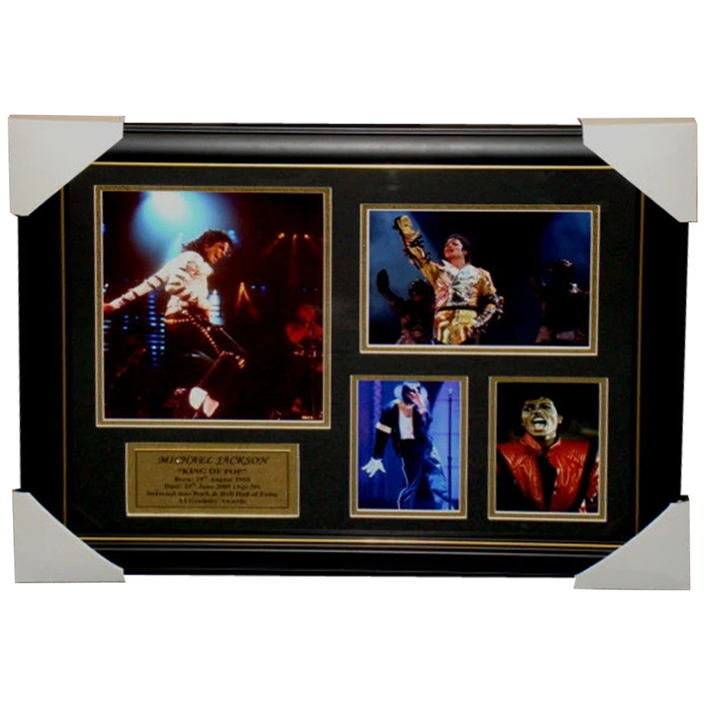 Michael Jackson Photo Collage Framed - 3325