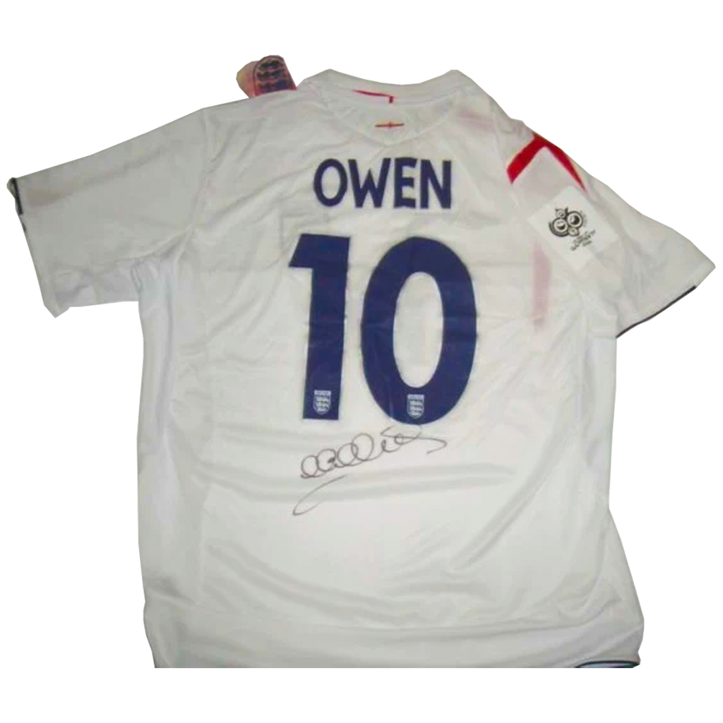 Michael Owen England 2006 World Cup Signed Soccer Jersey - 2831