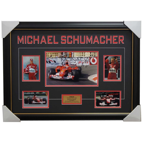 Michael Schumacher Ferrari Signed Photo Collage Framed - 3963