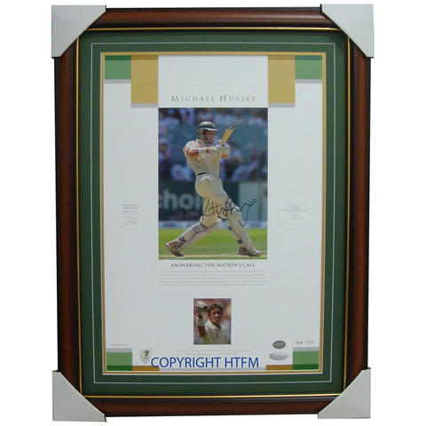 "Mike Hussey Lithograth ""Answering the Call"" Signed Print Framed - 1139"