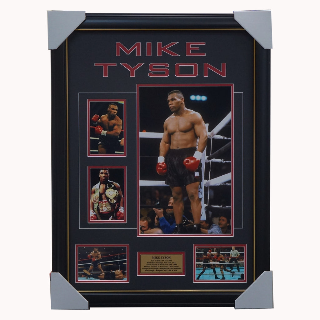 Mike Tyson Boxing World Champion Photo Collage Framed - 4389