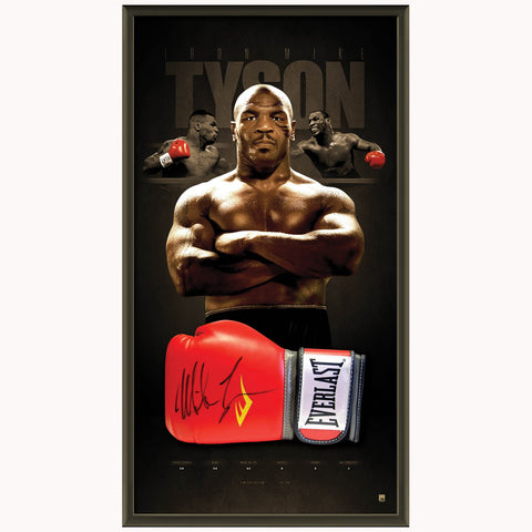 Mike Tyson Signed Official Boxing Glove Box Framed World Champion - 3965