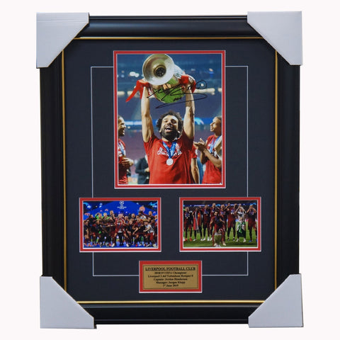 Mo Salah Signed 2019 Champions League Liverpool Collage Framed - 3970