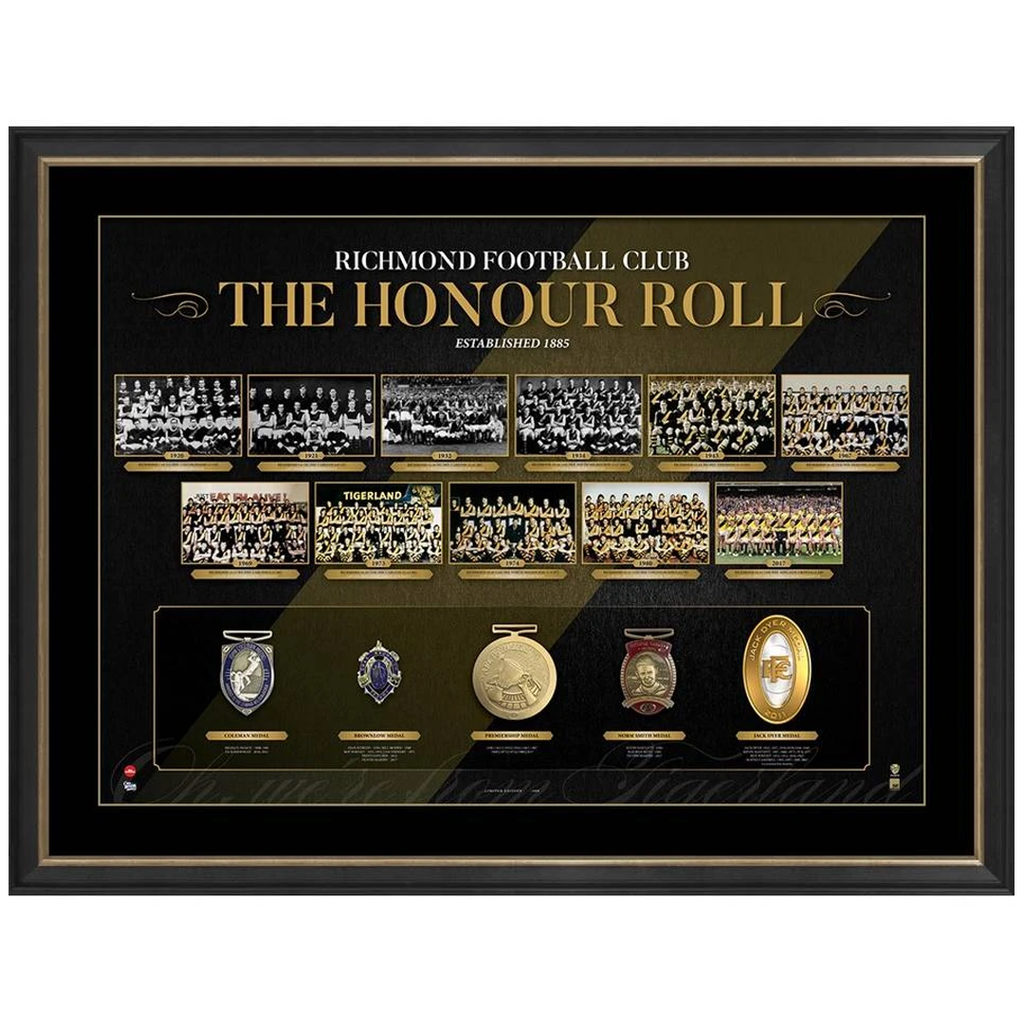 New Richmond Vfl/afl Premiers Honour Roll With Medallions Print Framed Inc 2017 Premiers - 3653