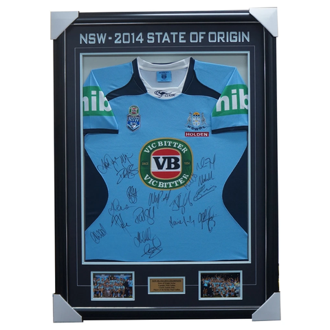 Nsw Signed State of Origin 2018 Champions Team Signed Jersey Framed Cordner - 3912