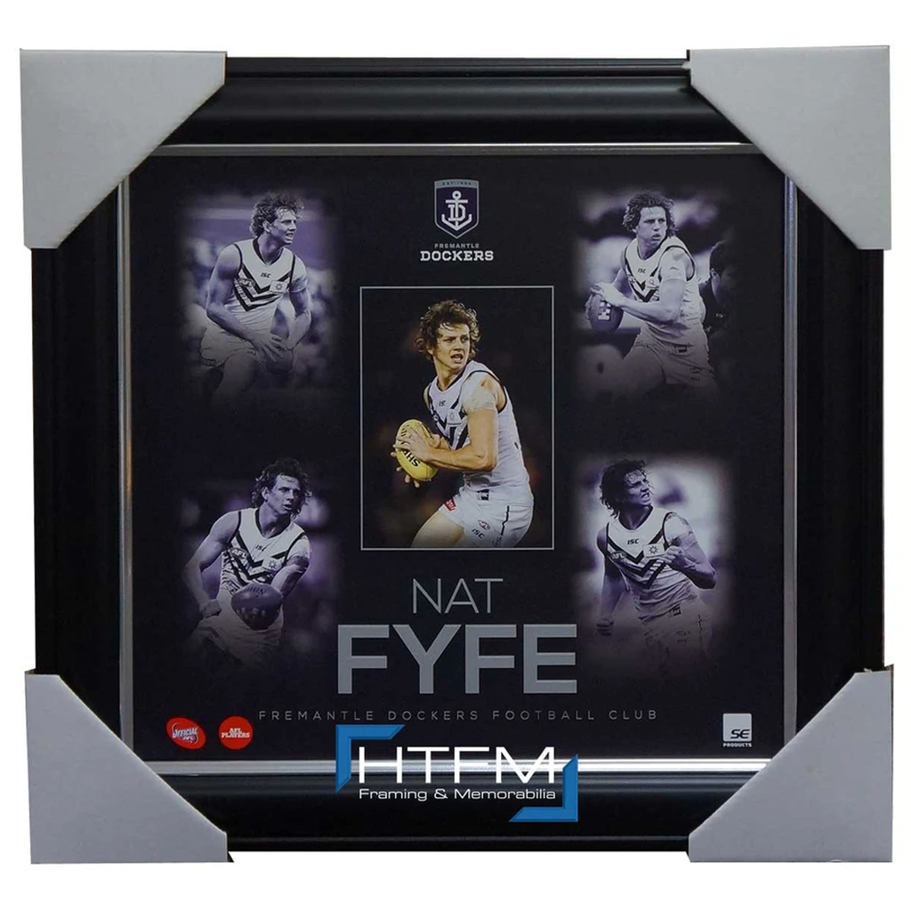 Nat Fyfe Unsigned Fremantle Dockers Official Afl Montage 2015 Print Framed - 1084