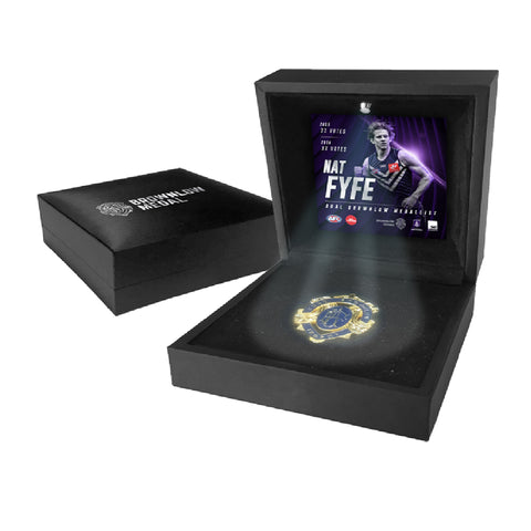 Nat Fyfe 2019 Official AFL Fremantle Dockers LED Boxed Brownlow Medal Display - 3784