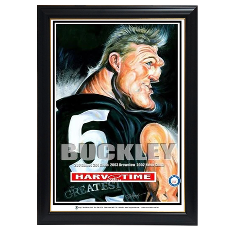 Nathan Buckley, The Greatest, Harv Time Print Framed - 4303