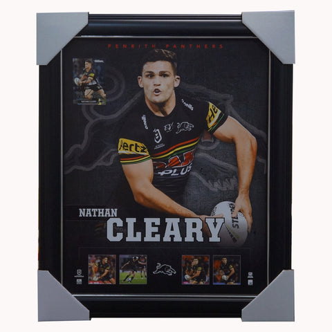 Nathan Cleary Penrith Panthers Official NRL Player Print Framed + Signed Card - 4597