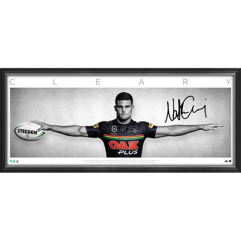Nathan Cleary Signed Penrith Panthers Official NRL Wings Print Framed - 4722