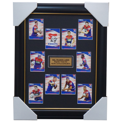 2020 NRL Traders Cards Newcastle Knights Team Set Framed Pearce Lee Ponga - 4030