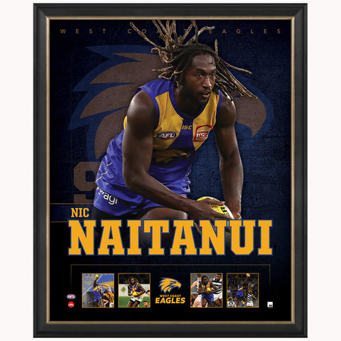 Nic Naitanui West Coast Eagles F.c. Official Licensed Afl Print Framed New - 4487