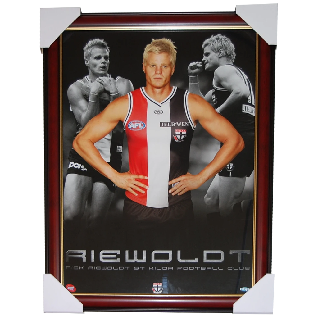 Nick Riewoldt Limited Edition St Kilda Print Framed - 2747
