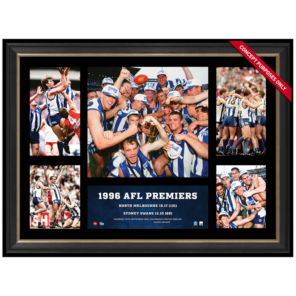 North Melbourne 1996 AFL Premiership Glory Official AFL Photo Collage Framed - 2843