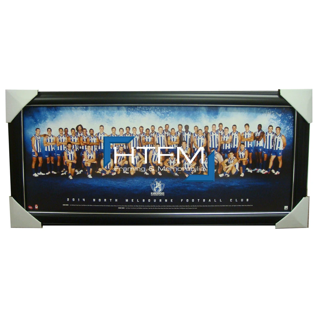 North Melbourne 2014 TEAM PRINT FRAMED AFL Official Licensed Swallow Petrie - 1750