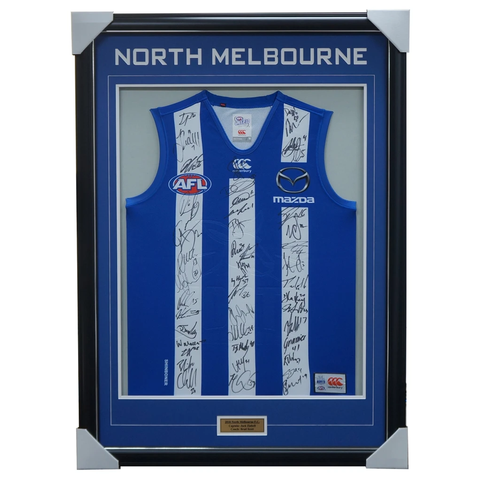 North Melbourne 2018 Signed Official Afl Team Jumper Framed Brown Ziebell + Coa - 3452