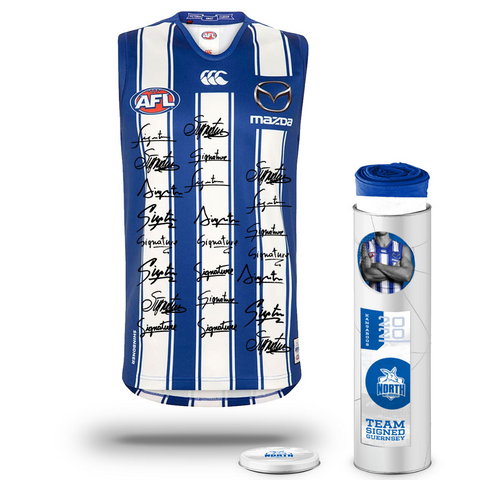 North Melbourne Football Club 2020 AFL Official Team Signed Guernsey - 4139
