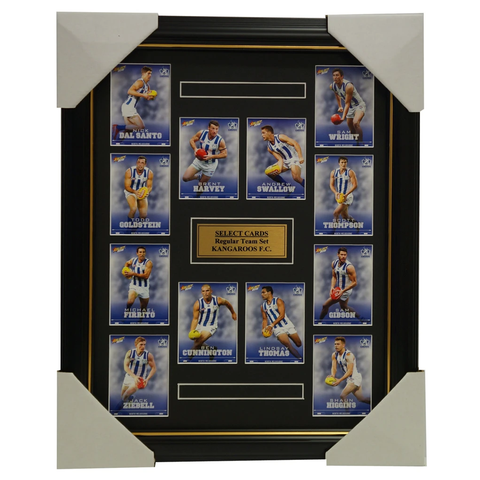 North Melbourne Kangaroos 2016 Select Card Team Set Framed Brent Harvey Ziebeel - 2642