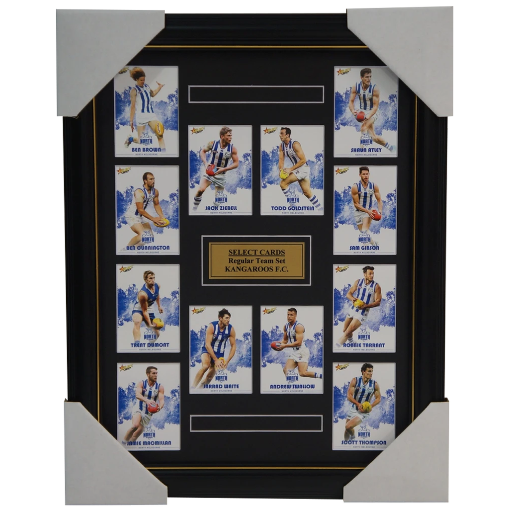 North Melbourne Kangaroos 2017 Select Card Team Set Framed Ziebell Goldstein - 3062