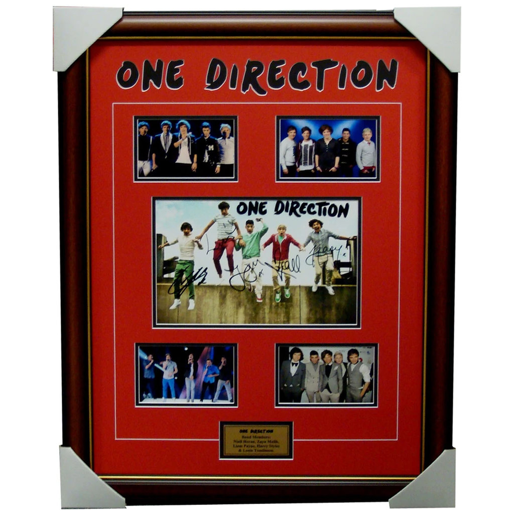 One Direction Photo Collage Framed With Facsimile Signatures - 1117