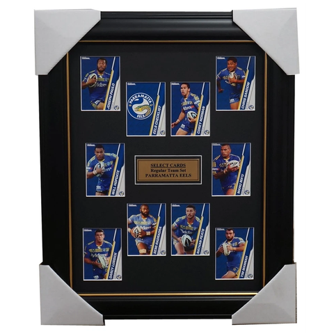 Parramatta Eels 2015 Nrl Card Team Set Framed Will Hopoate Norman - 1039