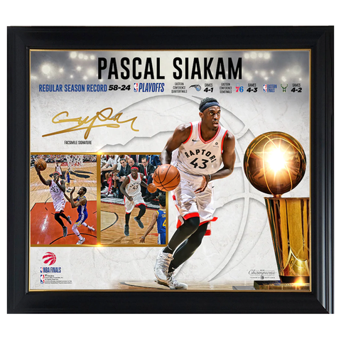 Pascal Siakam Toronto Raptors 2019 NBA Finals Champions Collage Official NBA Print Framed - 4429