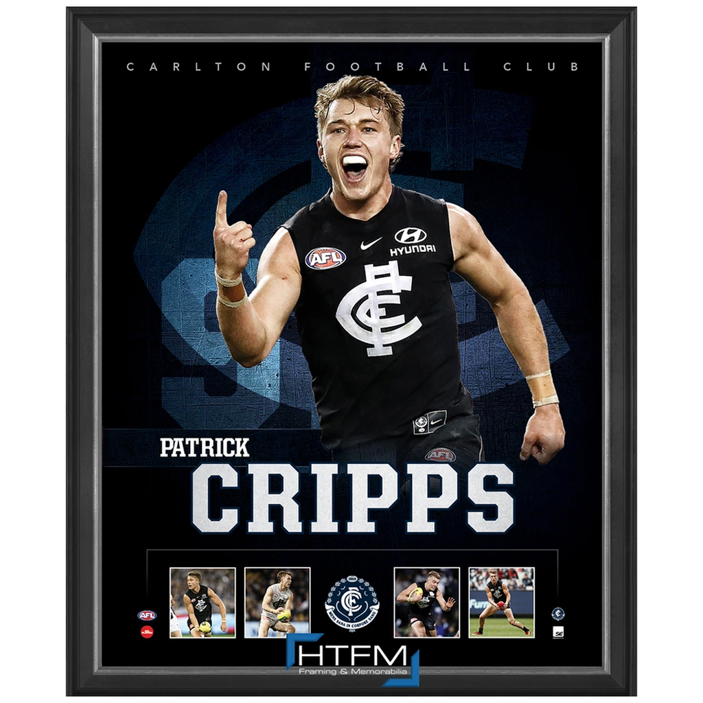 Patrick Cripps Captain of Carlton F.C. Official Licensed AFL Print Framed NEW - 3688