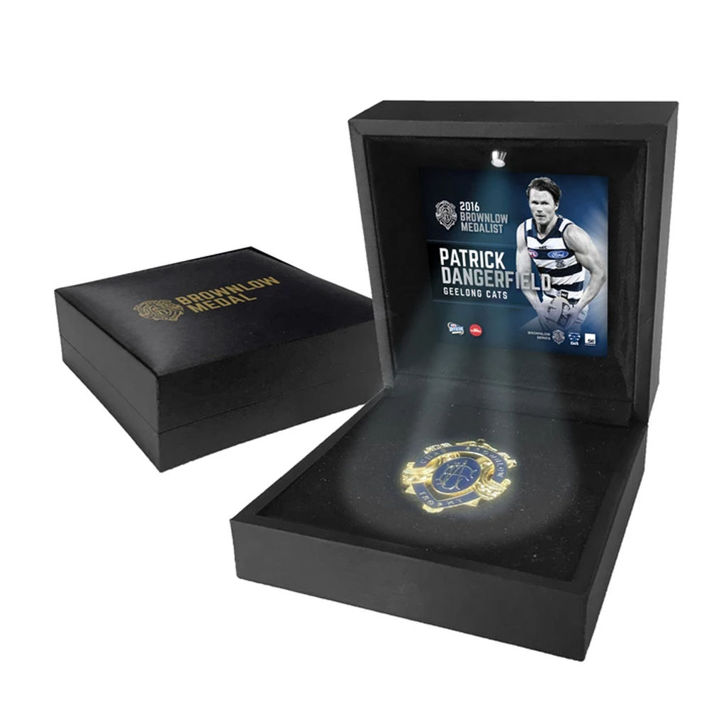 Patrick Dangerfield 2016 Brownlow Medallist Official Boxed Medallion Geelong - 2949