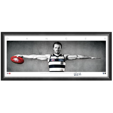 Patrick Dangerfield Signed Geelong Cats Mini Wings Official AFL Print Framed NEW - 3746