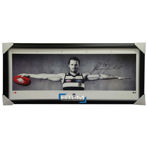 Patrick Dangerfield Signed Geelong Cats Wings AFL Print Framed - 2739 BRAND NEW