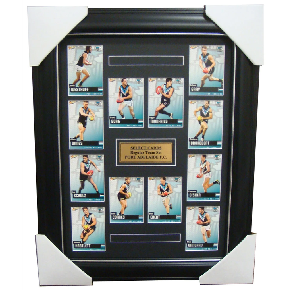 Port Adelaide 2014 Limited Edition Select Cards Set Framed Boak Wingard Wines - 1706