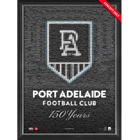 Port Adelaide Football Club 150 Years Limited Edition Mosaic Print Framed - 4392