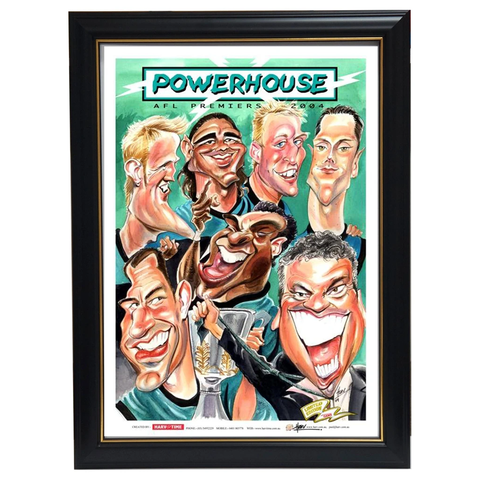 Port Adelaide Power 2004 Afl Premiers Harv Time Limited Edition Print Framed - 3608