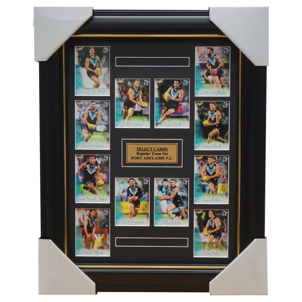 Port Adelaide Power 2018 Select Card Team Set Framed Wingard Boak Wines Gray - 3365