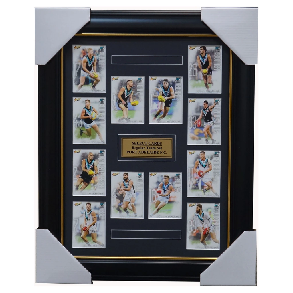 Port Adelaide Power 2019 Select Card Team Set Framed Boak Wines Gray - 3619