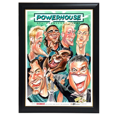 Port Adelaide Power, Powerhouse, Premiers, Harv Time Print Framed - 4082