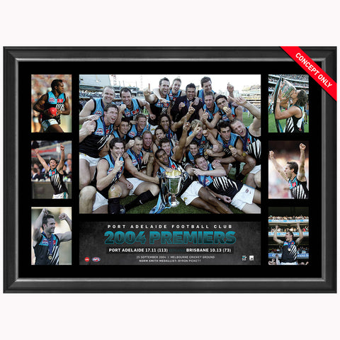 Port Adelaide Power 2004 Premiers AFL Premiergraph Framed Pickett Tredrea  - 3738