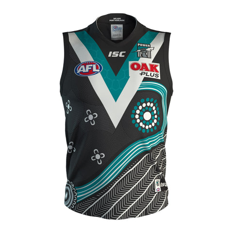 Port Adelaide Power 2019 Indigenous Guernsey Mens Afl Isc Small-5xl Brand New - 3734 on Sale