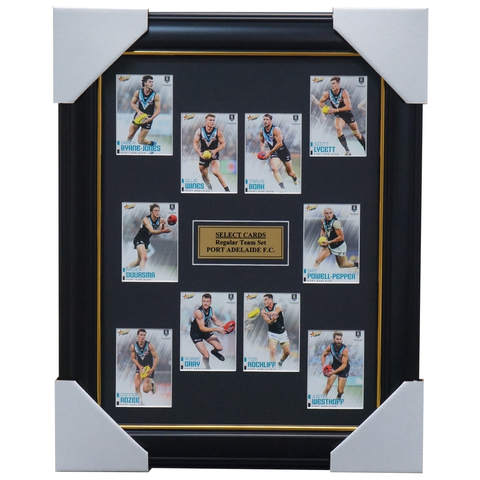 Port Adelaide 2020 Afl Select Team Card Set Framed Boak Wines Gray   - 4011