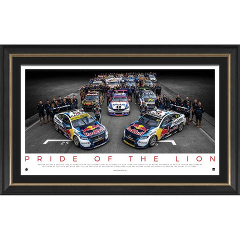 Holden Pride of the Lions Official Legacy Print Framed - 4336