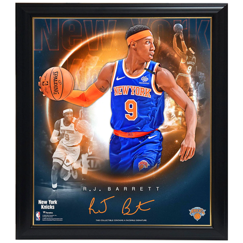 R.J. Barrett New York Knicks Facsimile Signature Official NBA Print Framed - 4426