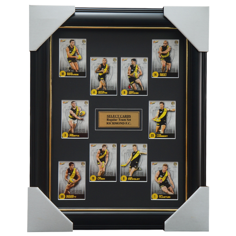 Richmond 2021 AFL Select Team Card Set Framed Dustin Martin Trent Cotchin Riewoldt  - 4632