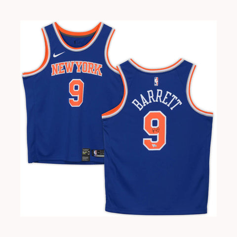 R.J. Barrett New York Knicks Fanatics Authentic Autographed Nike Royal Blue Swingman Jersey - 4467