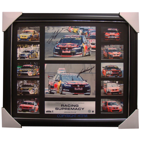 Racing Supremacy Limited Edition 888 Holden Print Signed Lowndes & Wincup Framed - 1660