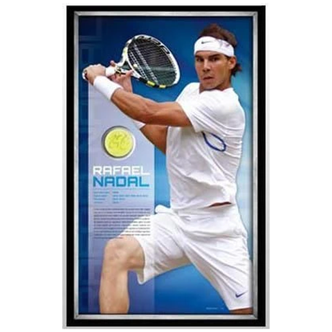 Rafael Nadal Signed Ball and Print L/e to 100 Only Framed - 1148