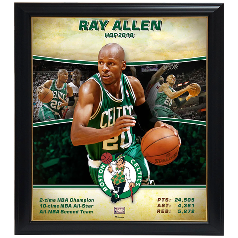 Ray Allen Boston Celtics Official NBA Print Framed - 4404