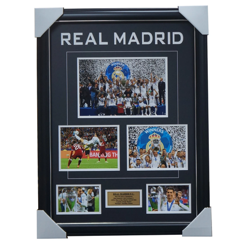 Real Madrid 2018 UEFA Champions Photo Collage Framed 3-PEAT - 3459