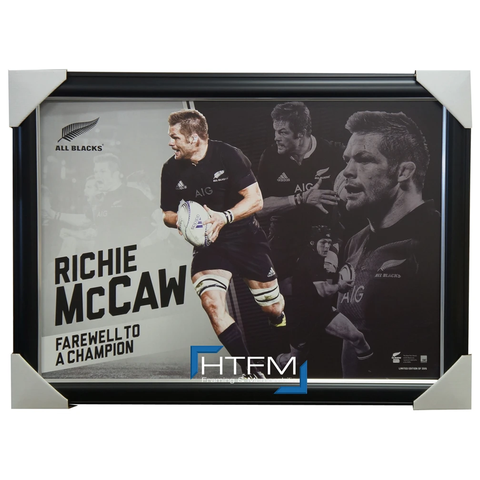 Richie Mccaw All Blacks Retirement Sportsprint Framed World Cup - 2603