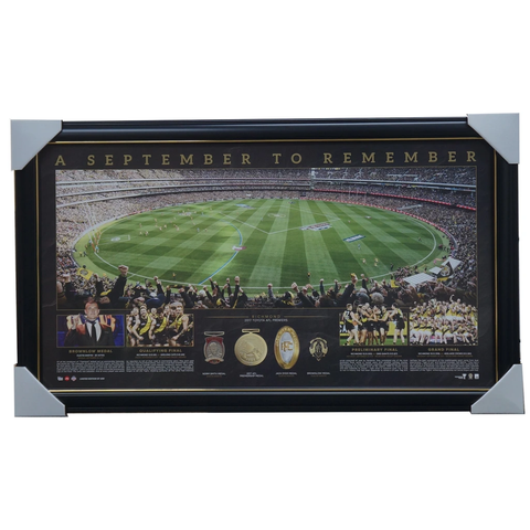 Richmond 2017 Afl Premiers Official Panoramic Grand Final Print Framed New - 3439